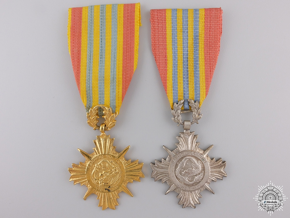 A Vietnamese Armed Forces Honour Medals; 1st and 2nd Classes