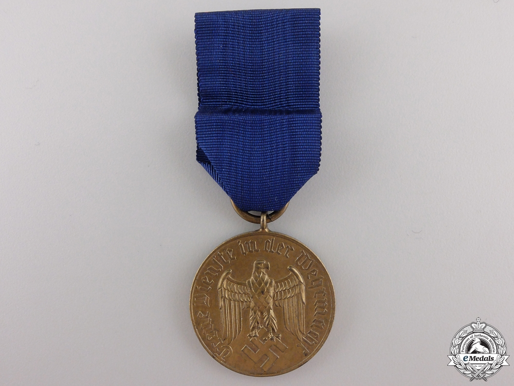A Wehrmacht Long Service Medal; 12 Years Service