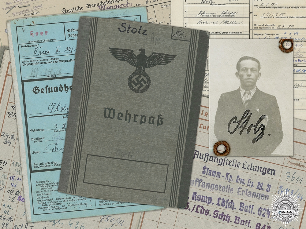 A Wehrpass to the 105th Infantry Regiment; Invasion of France