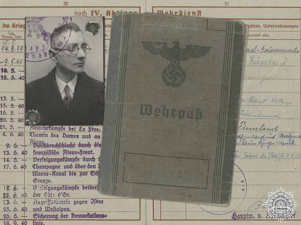 A Wehrpass to A 4 Times Wounded Lapland Shield Recipient