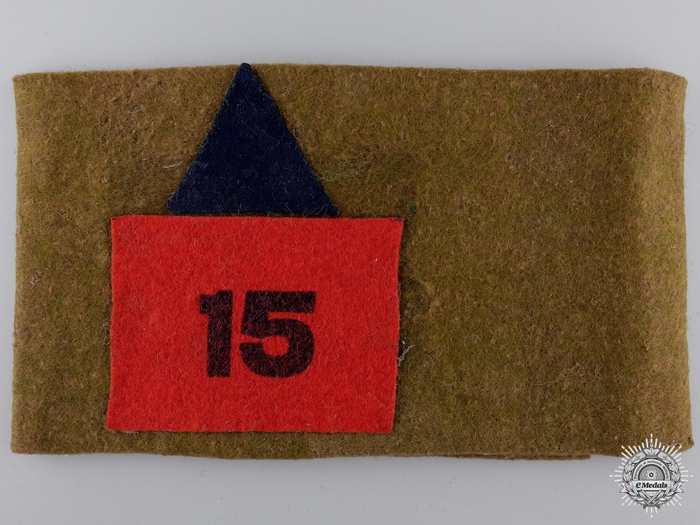 A WWI 15th Infantry Battalion Reunion Armband  Consignment #4