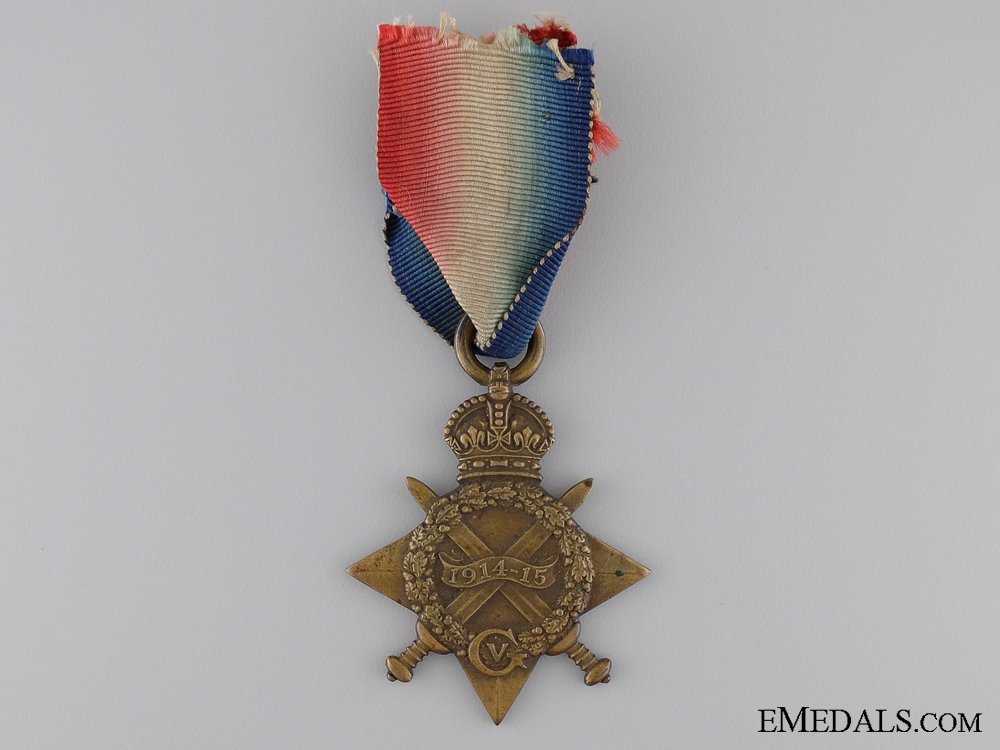 A WWI 1914/15 Star to the 6th Dragoon Guards