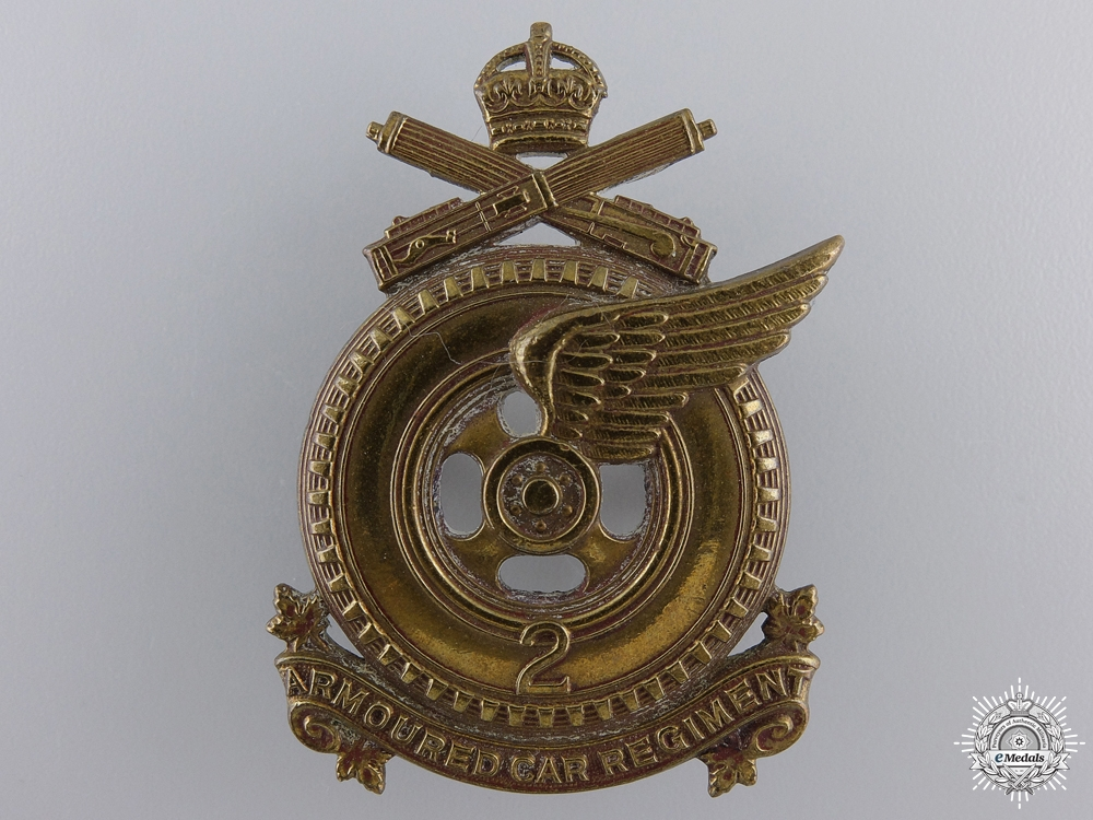 A WWI 2nd Armoured Car Regiment Cap Badge