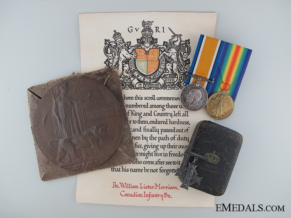 A WWI Group to the 2nd Infantry; KIA Battle of Passchendaele