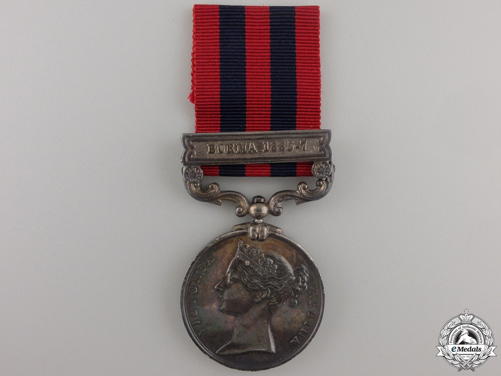 An 1854-1895 India General Service Medal to the Hampshire Regiment