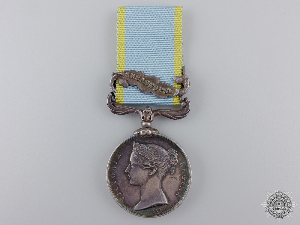 An 1854-56  Crimea Medal to the 34th Regiment of Foot