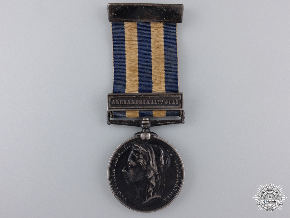 An 1882 Egypt Medal to H.M.S. Alexandria Royal Navy  consignment 21