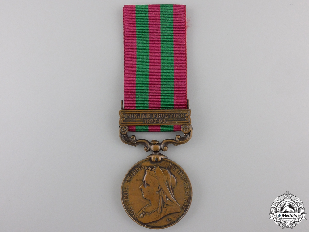 An 1895-1902 India Medal for then Punjab Frontier