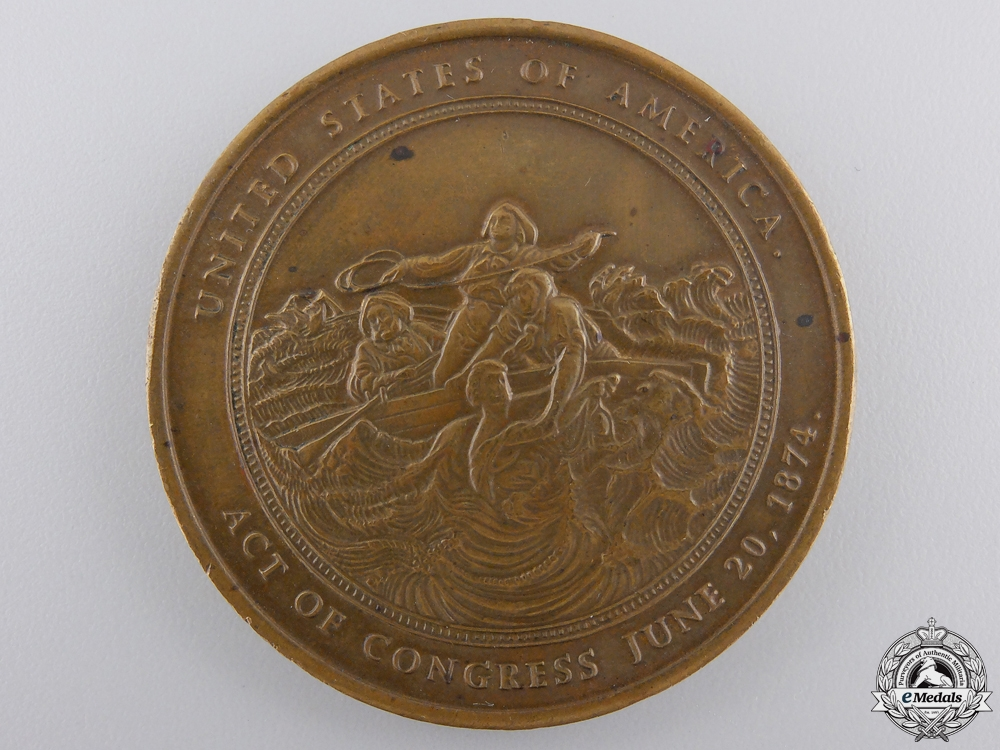 An American Gold Lifesaving Medal for the Rescuing of 10 Men