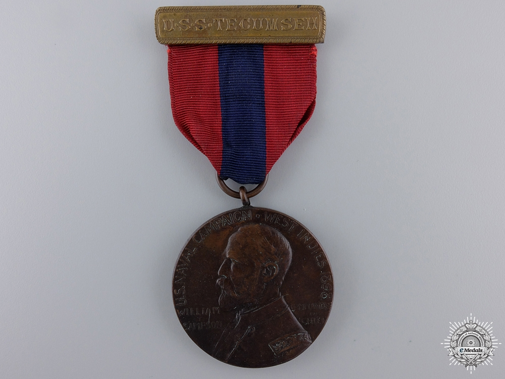An American West Indies Naval Campaign Medal (Sampson Medal)