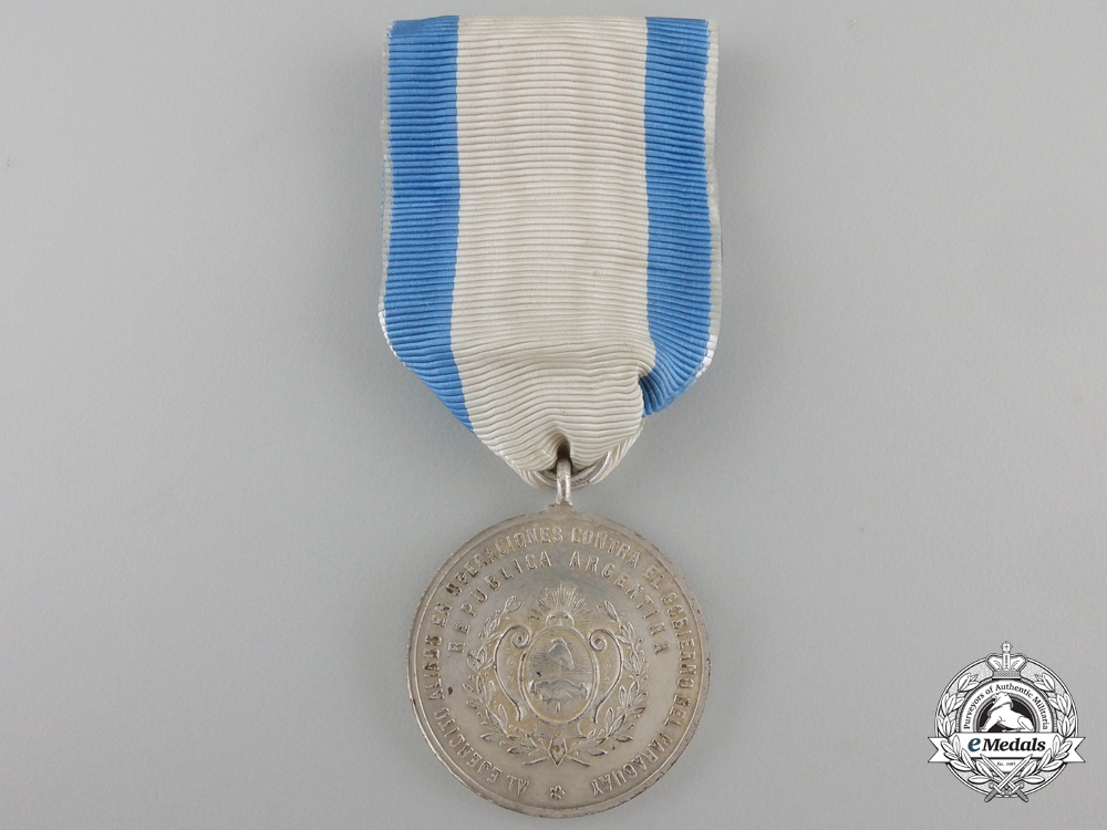 An Argentinian Campaign Medal for the Paraguayan War; Silver Grade