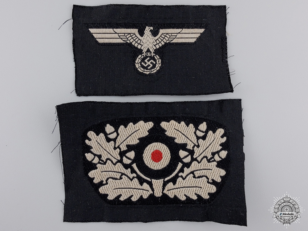 """An Army Eagle & """"Kokarde"""" for a Panzer Beret"""