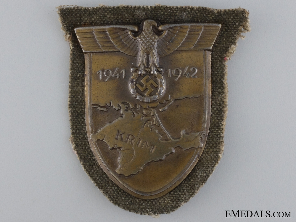 An Army Issued Krim Shield on Canvas