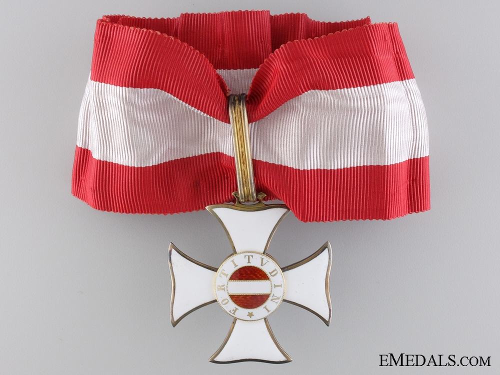 An Austrian Military Maria Theresa Order; Commander's Cross by Rothe
