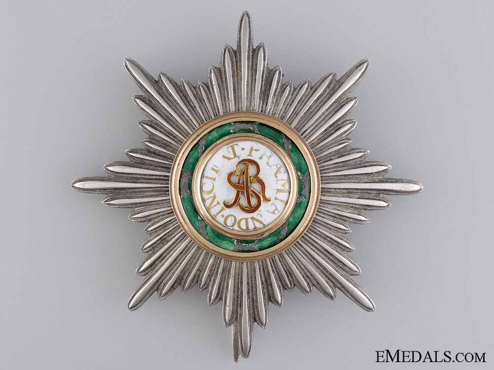 An Early Russian Order of St. Stanislaus in Gold; Early Breast Star