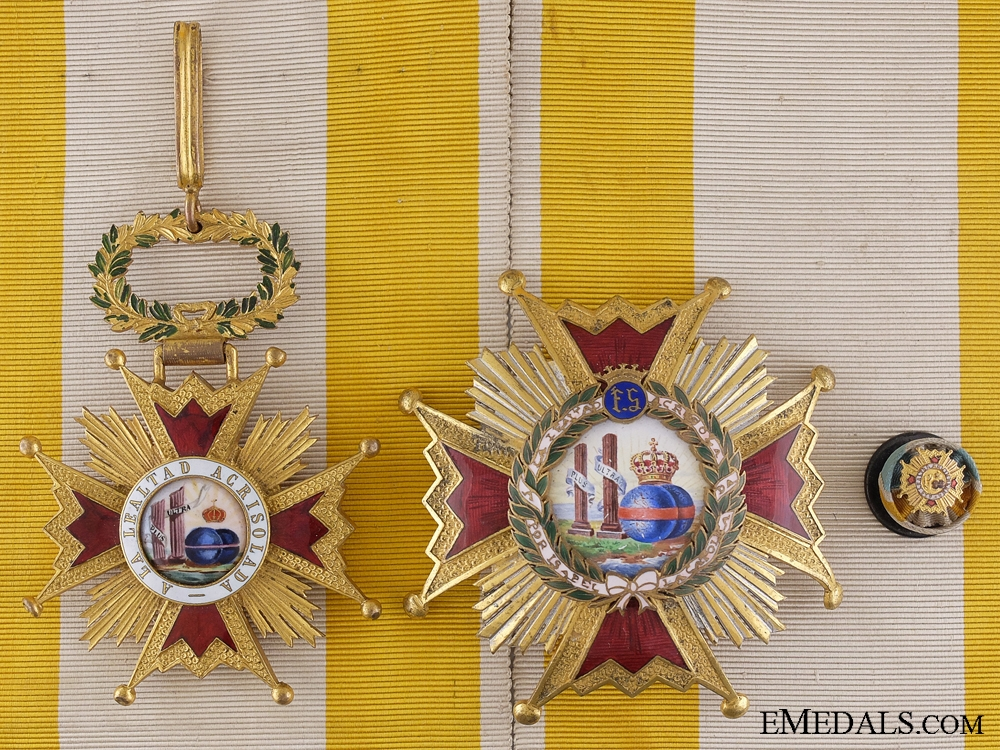 An Early Spanish Order of Isabella the Catholic; Grand Cross Set