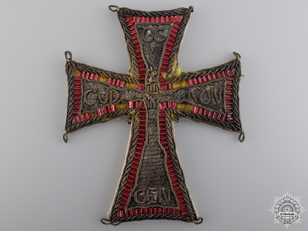 An Embroidered Danish Order of the Dannebrog c.1800