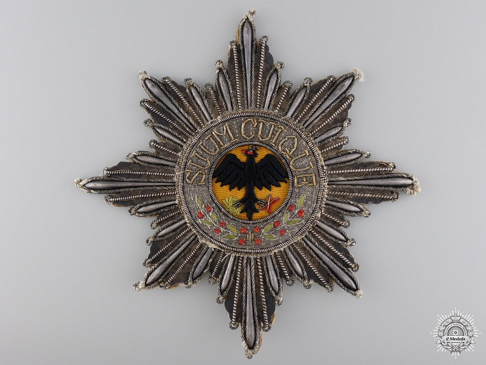 An Embroidered Prussian Order of the Black Eagle