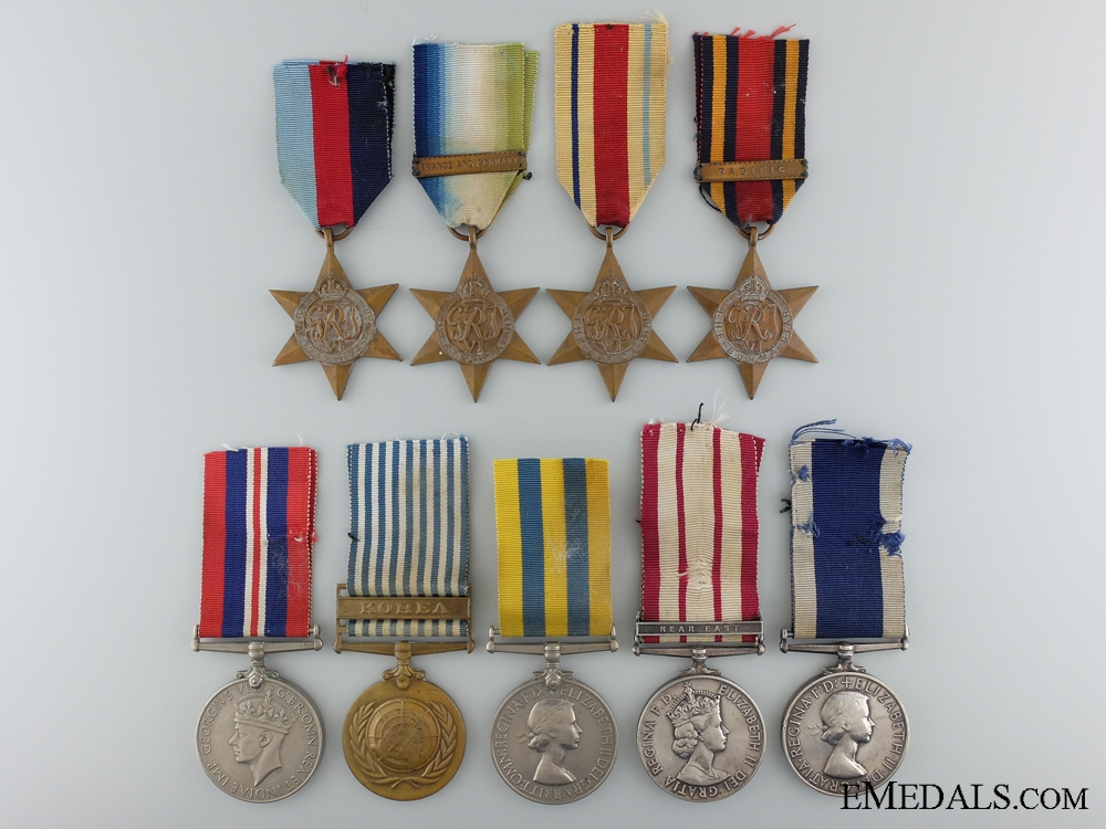 An Extensive Royal Naval Service Grouping to Petty Officer Garbutt