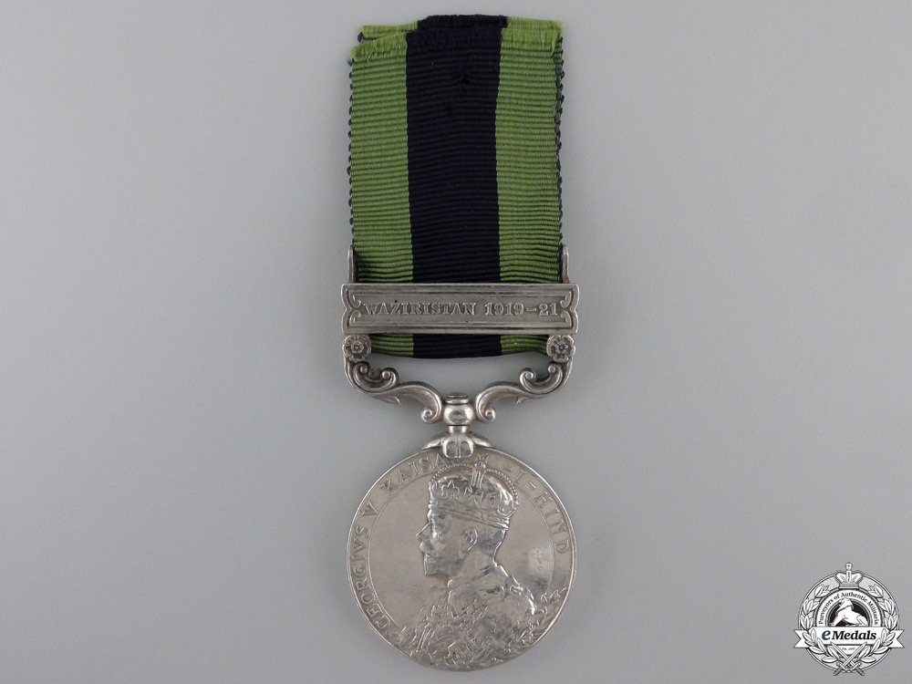 An India General Service Medal to the 17th Cavalry Regiment