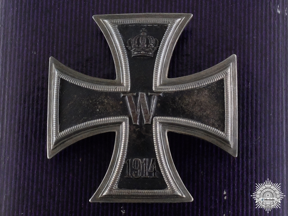 An Iron Cross First Class 1914 with Case