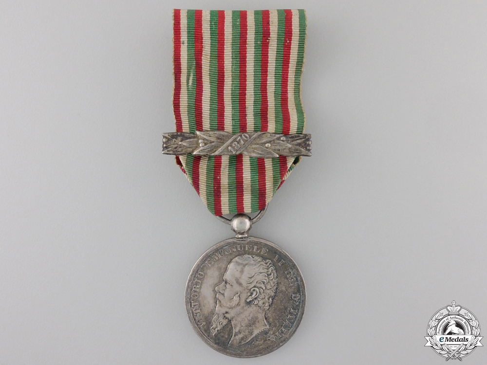 An Italian Independence Medal with 1870 Clasp