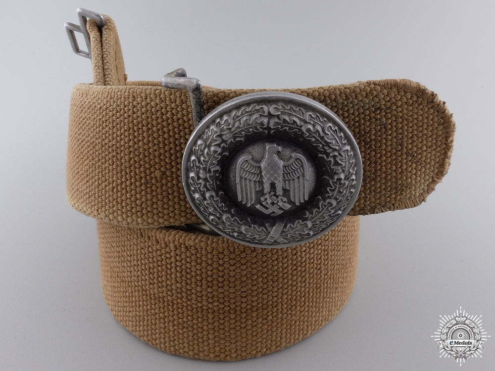 An Officer's Buckle with Tropical Belt