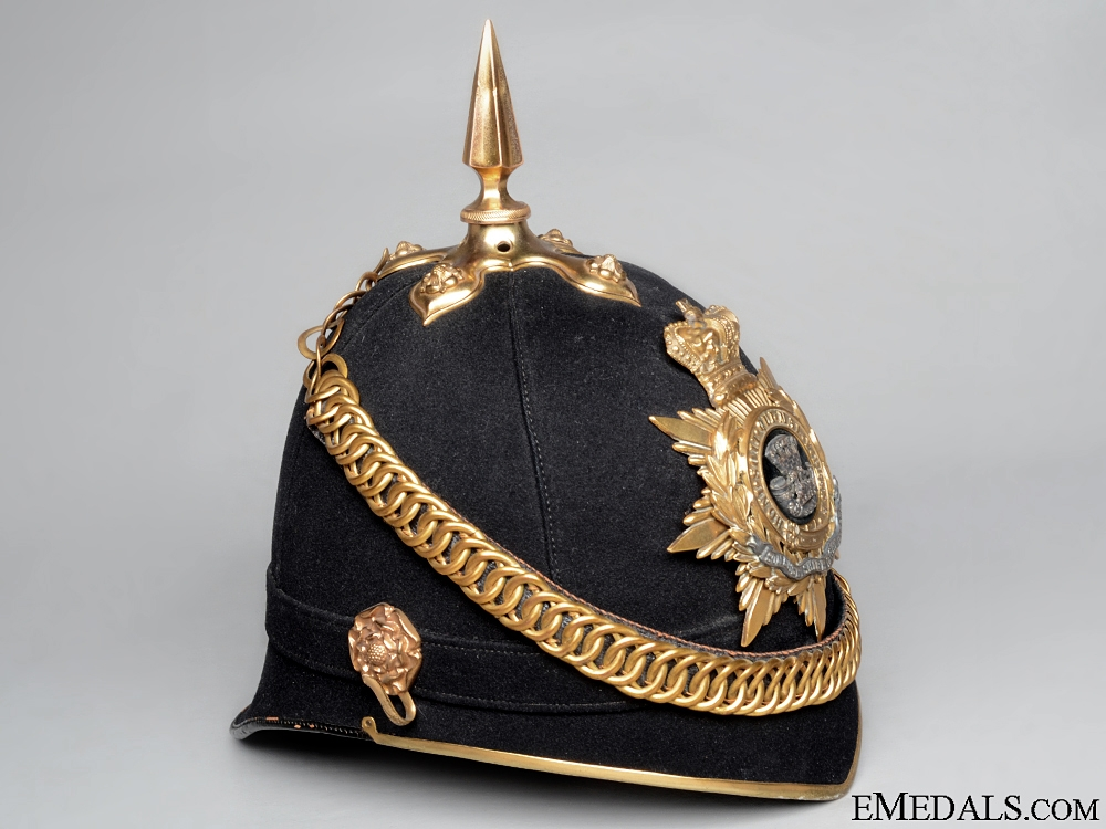An Officer's Cloth Helmet of the Somerset Light Infantry