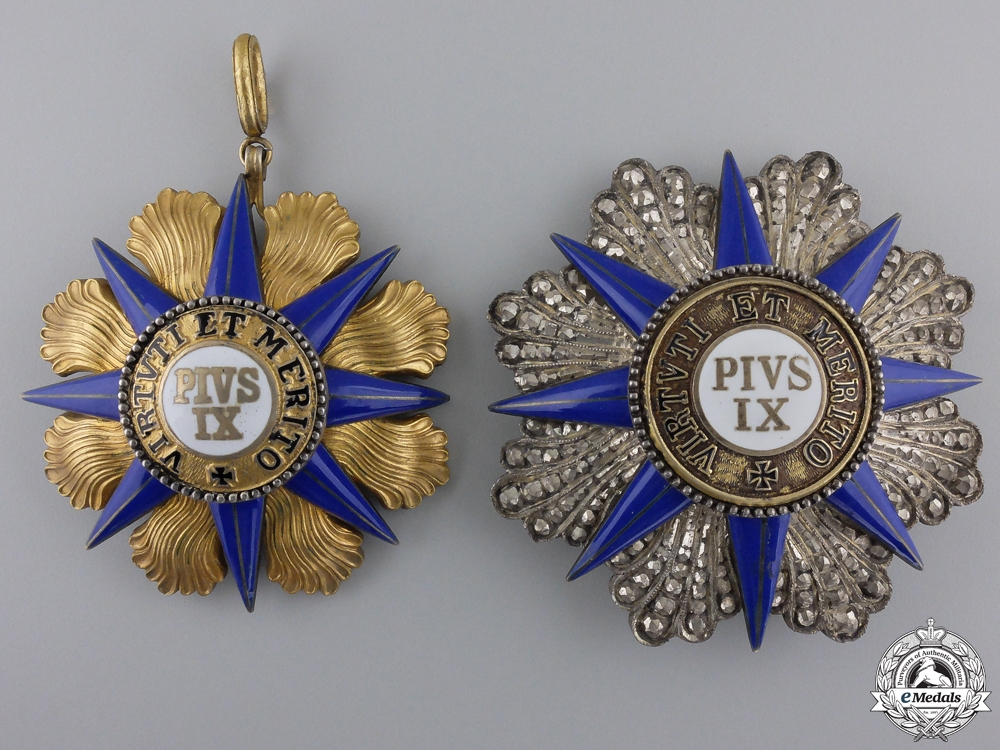An Order of Order of Pius IX; Knight Grand Cross Set