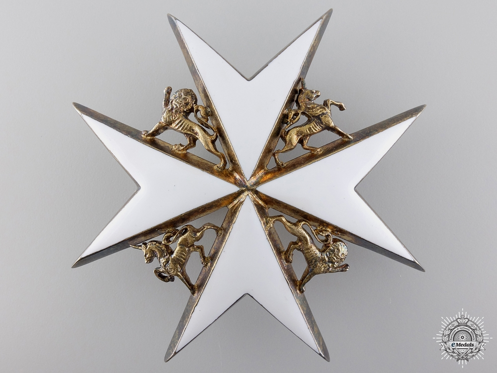 An Order of St. John Breast Star with Embellishments