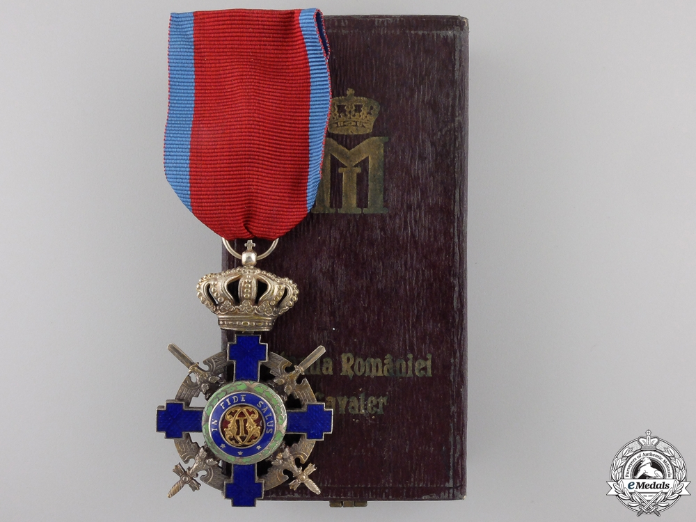 An Order of the Star of Romania; Knight with Crossed Swords