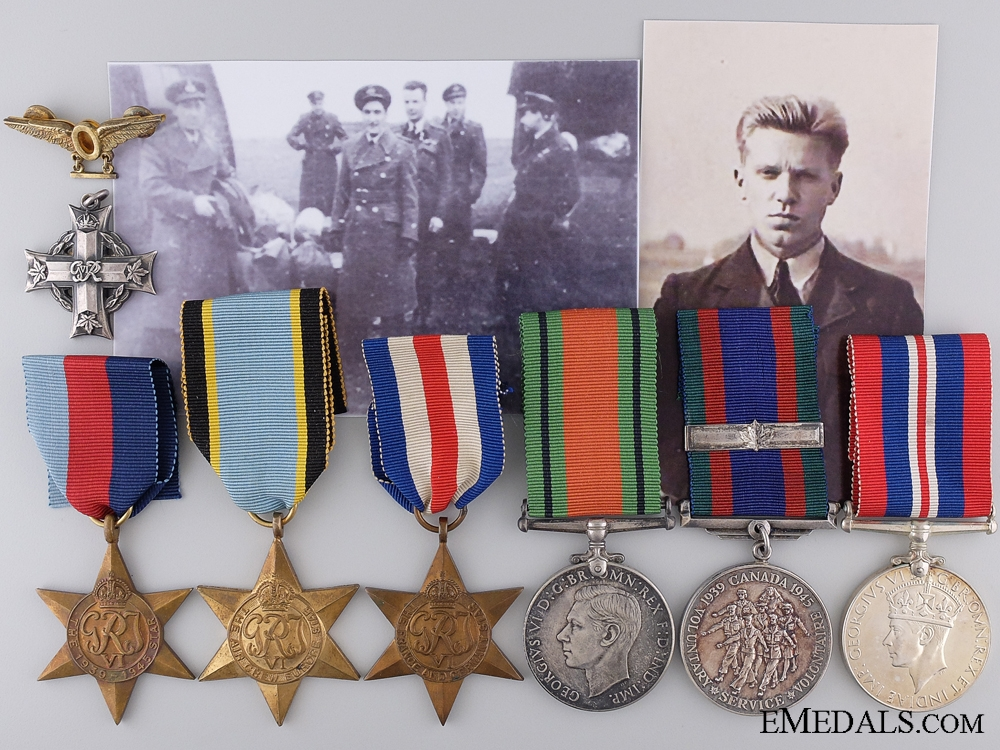 An RCAF Memorial Group for a 1945 Daylight Raid Over Essen