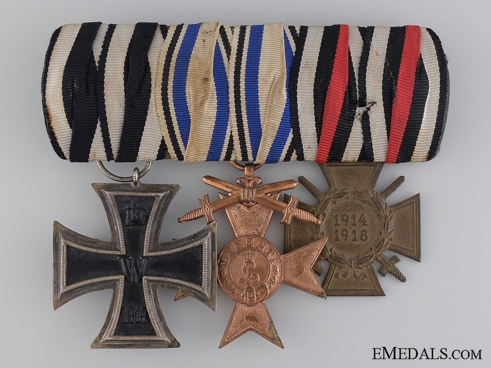 An WWI Iron Cross Medal Group; Marked Adolf Baumeister