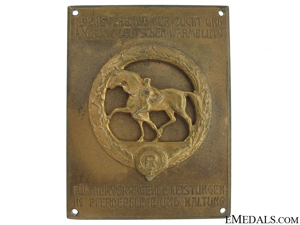 Award for the Care of Horses