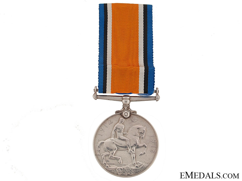 The 1914-1918 War Medal to the Famous Capt. Grinnel - Milne
