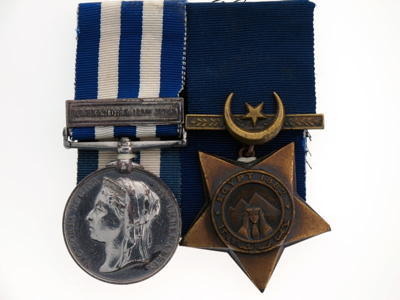 Pair, Egypt and Sudan Medal 1882-89,