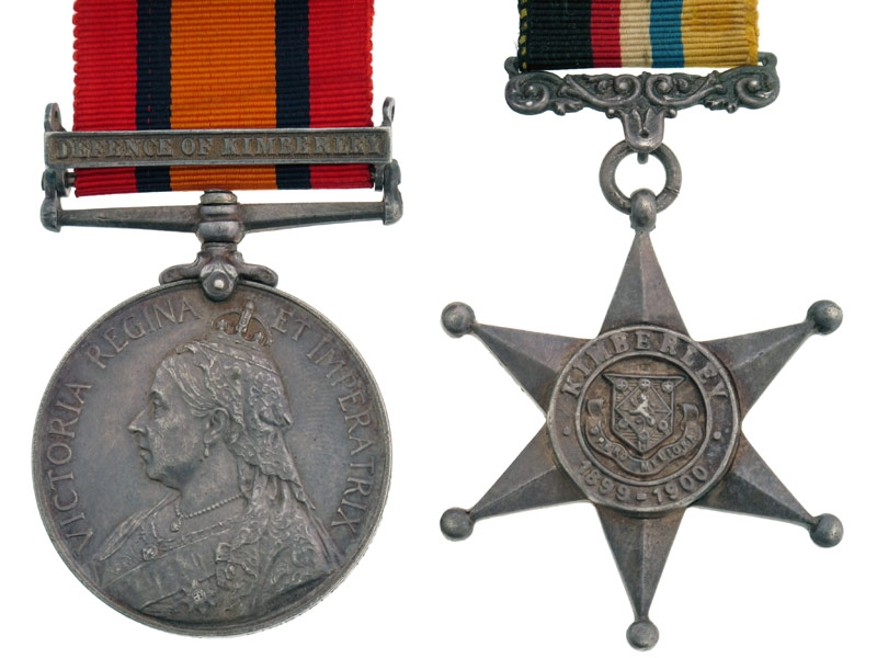 Defence of Kimberley Medal Pair