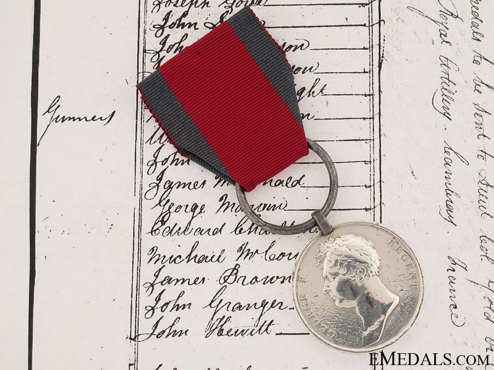 A Waterloo Medal to the Royal Horse Artillery