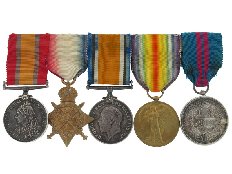 Awards of Major E.A. Weinholt, 1st Dragoon Guards