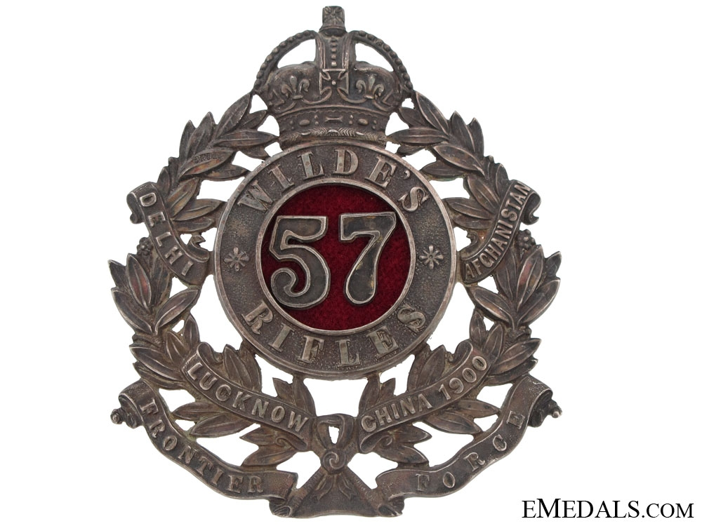 57th Wildes Rifles Officers Pouch Badge