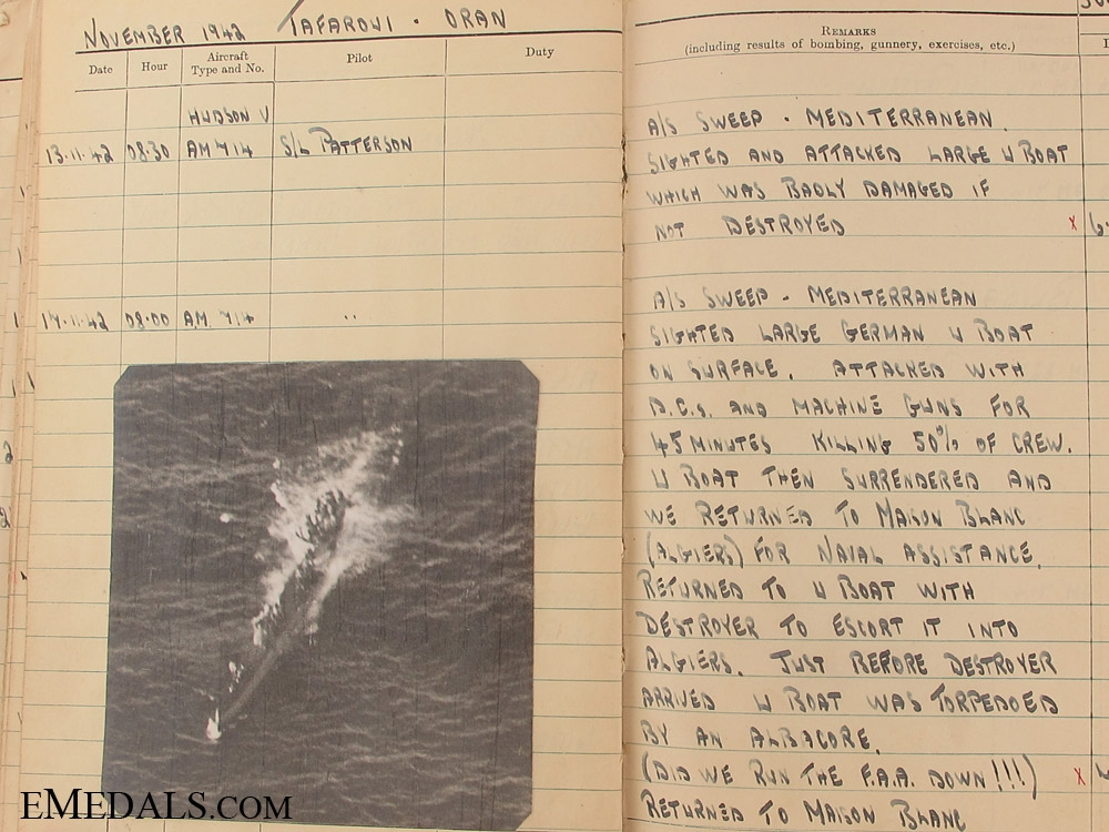 The Particularly Fine Flying Log Book of Pilot Officer Burrell