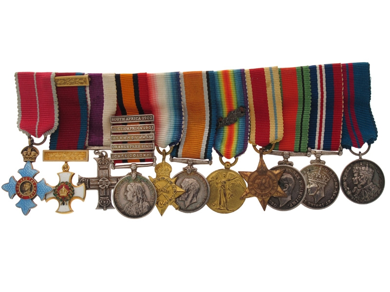 A Fine Group of Eleven Miniature Dress Medals