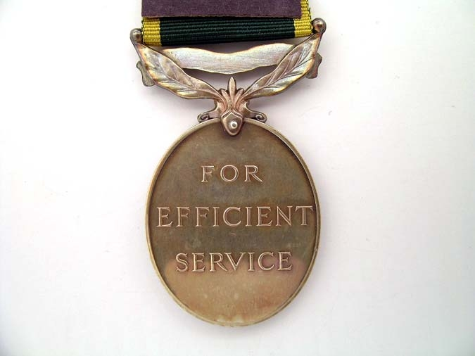 Efficiency Medal Scroll Canada