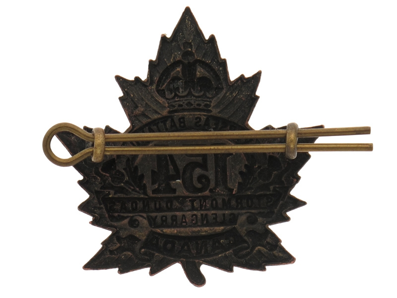 """WWI 154th """"Stormont, Dundas and Glengarry Badge"""