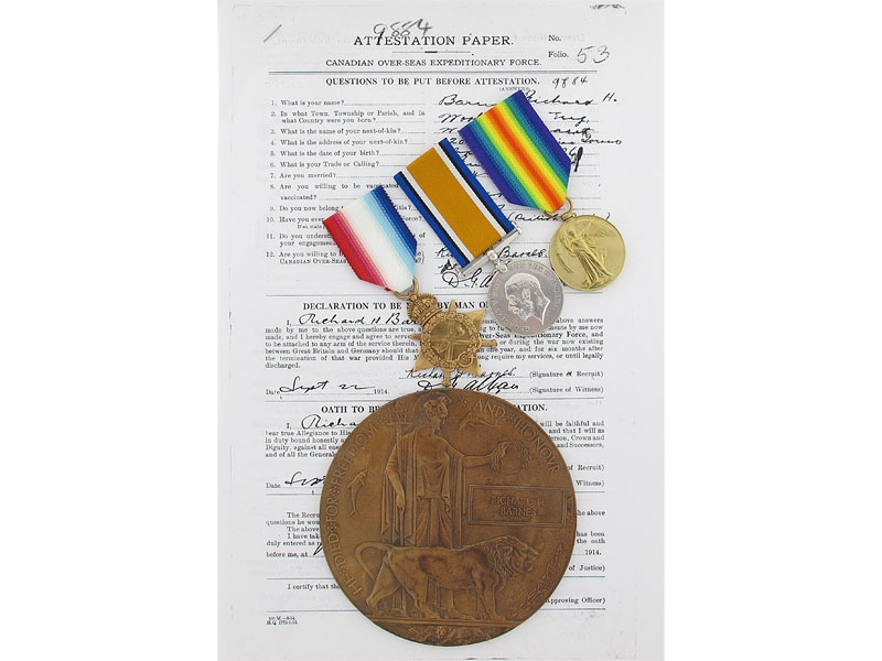 Givenchy KIA -Pte. Barnes, 3rd Canadian Infantry