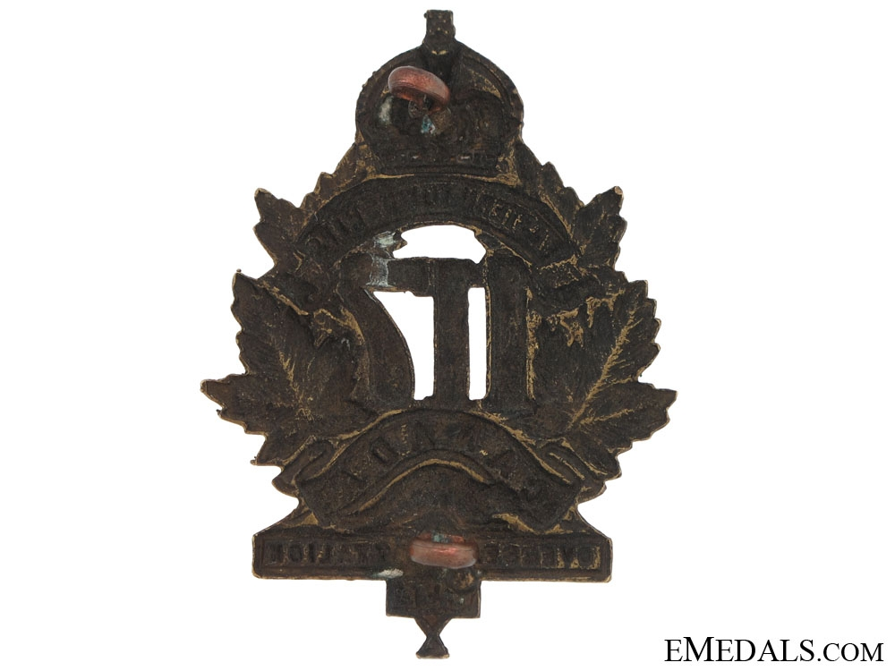117th Bn (Eastern Townships) Cap Badge, CEF
