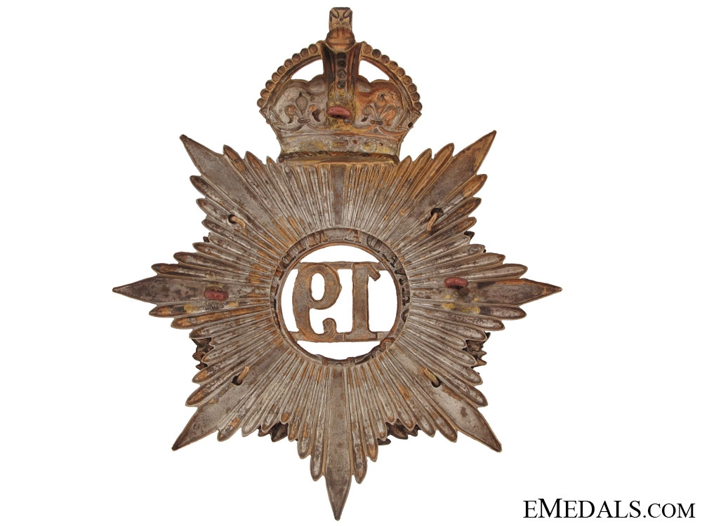 19th (Lincoln Battalion of Infantry) Canadian Militia Helmet Plate
