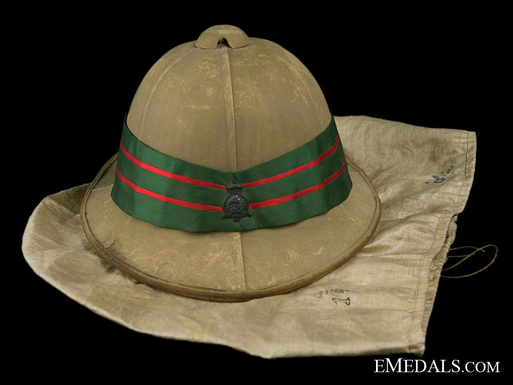 Model 1902 Wolseley Pattern Helmet to the 38th Dufferin Rifles of Canada