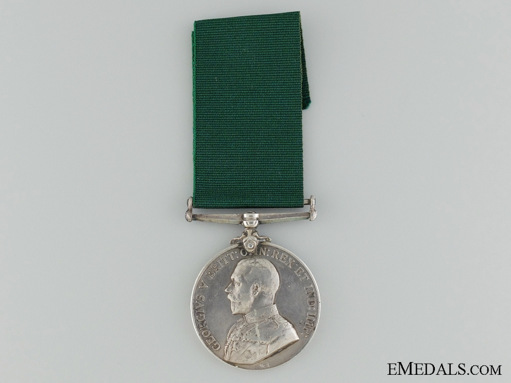 Colonial Auxilliary Forces Long Service Medal; Staff Sergt. G.G.F.G.