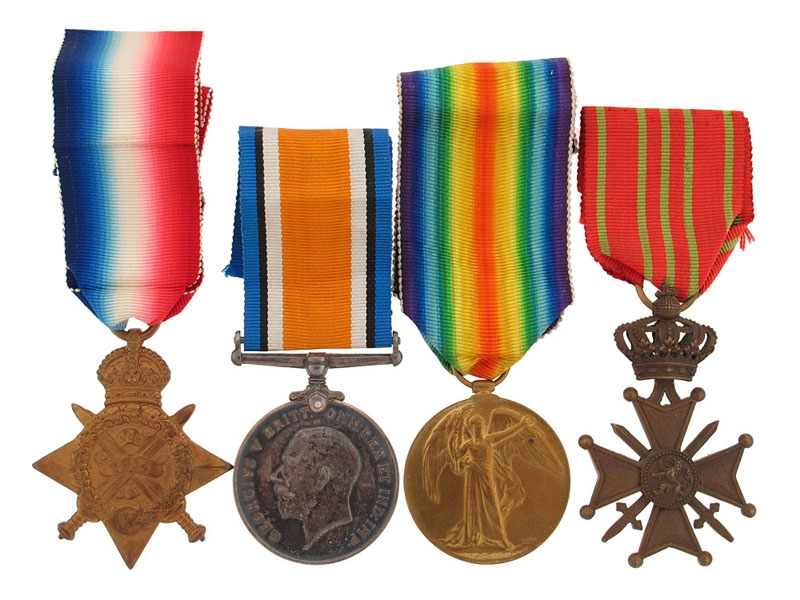 A Father & Son KIA Group with Belgian War Cross